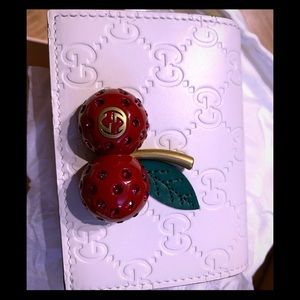 Gucci wallet with cherries